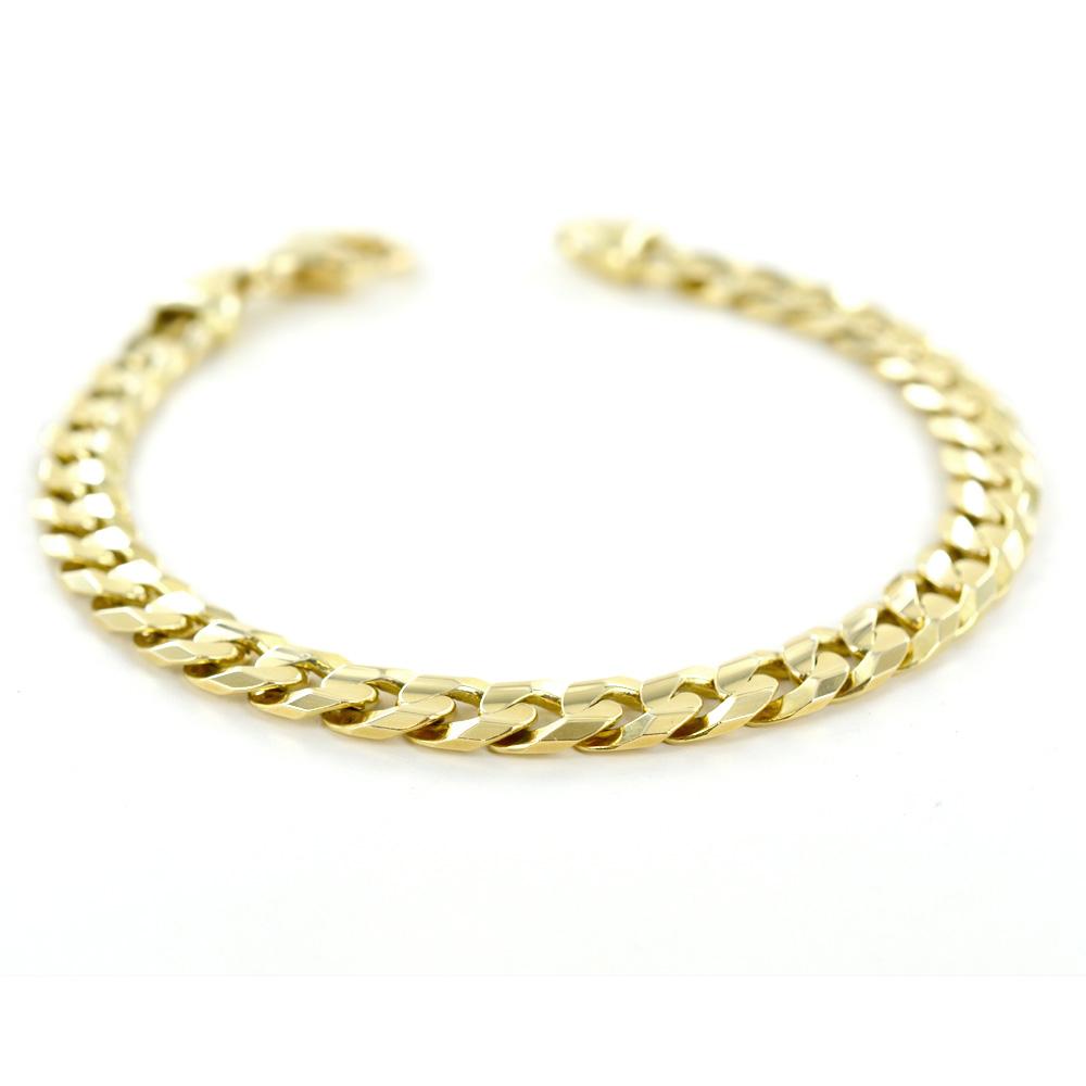 Bracciale da uomo in oro maglia groumette 23.00 cm