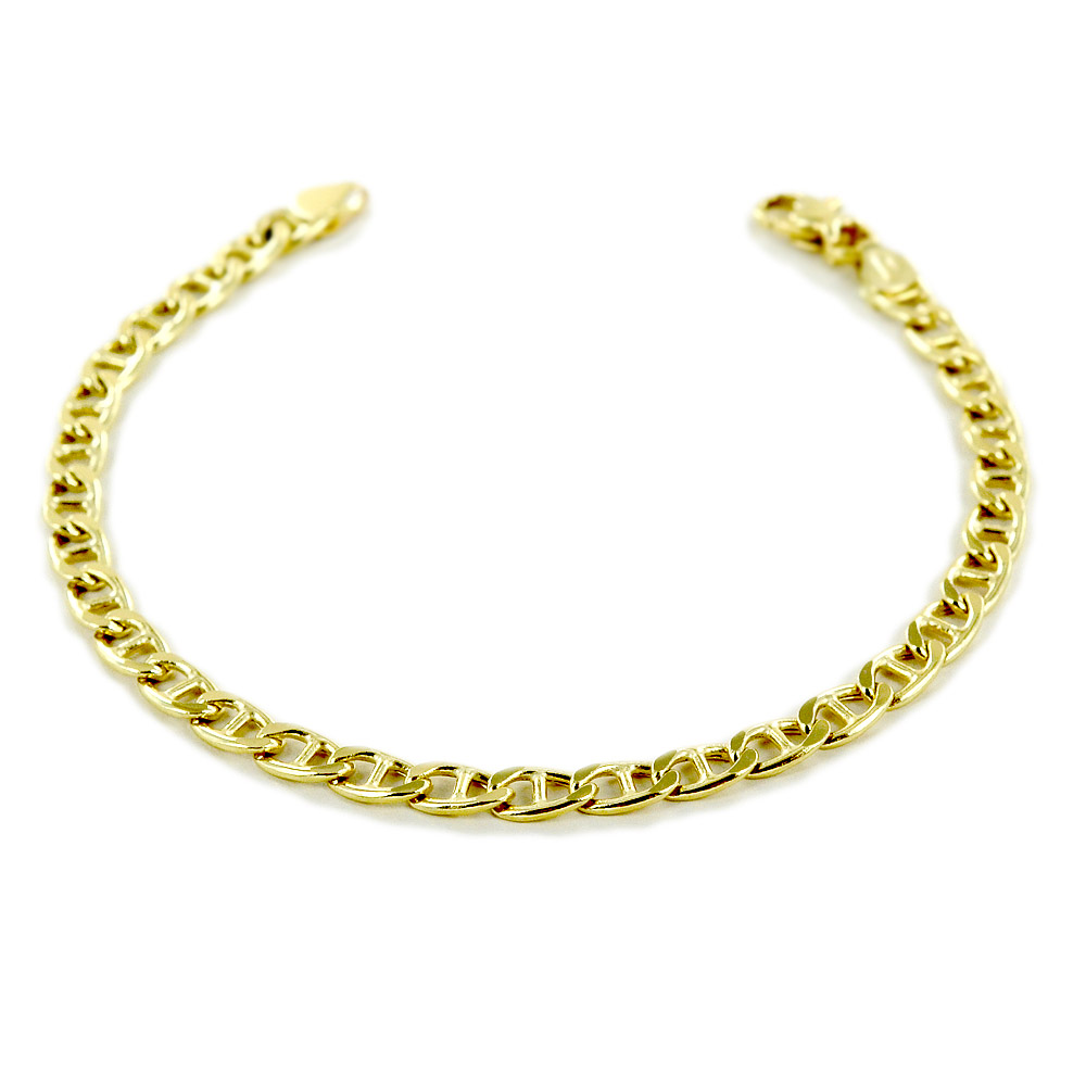 Bracciale da uomo medio in oro 20 cm traversino oreficeria aretina