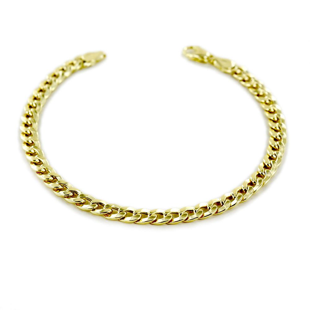 Bracciale da uomo medio in oro 20.50 cm groumette oreficeria aretina