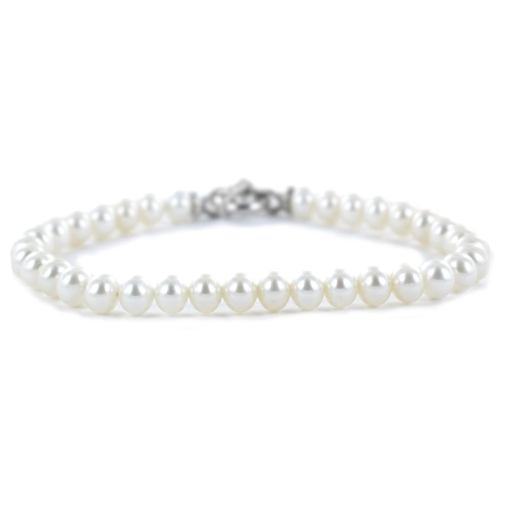 Bracciale di perle Freshwater 5,5-6 mm semiround