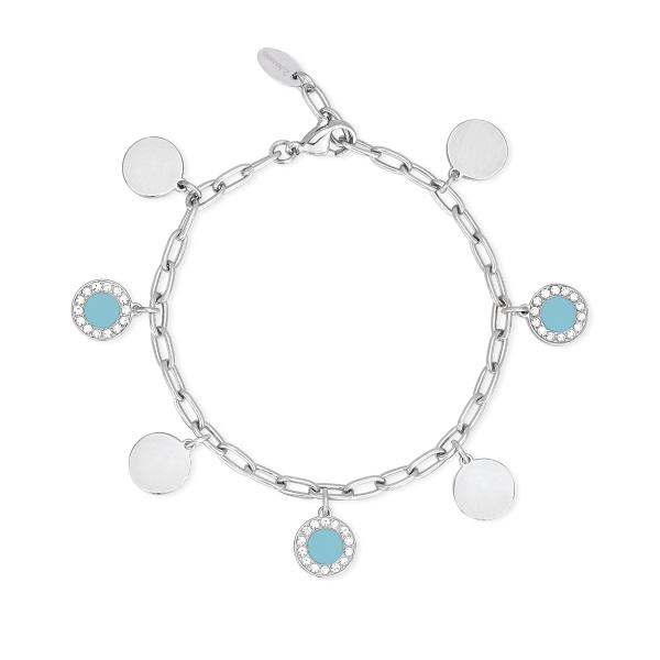 Bracciale Donna 2Jewels in Acciaio con charms blu 232175