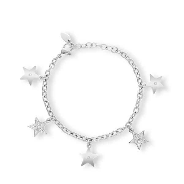 Bracciale Donna 2Jewels in Acciaio con charms stelle e cristalli 232232