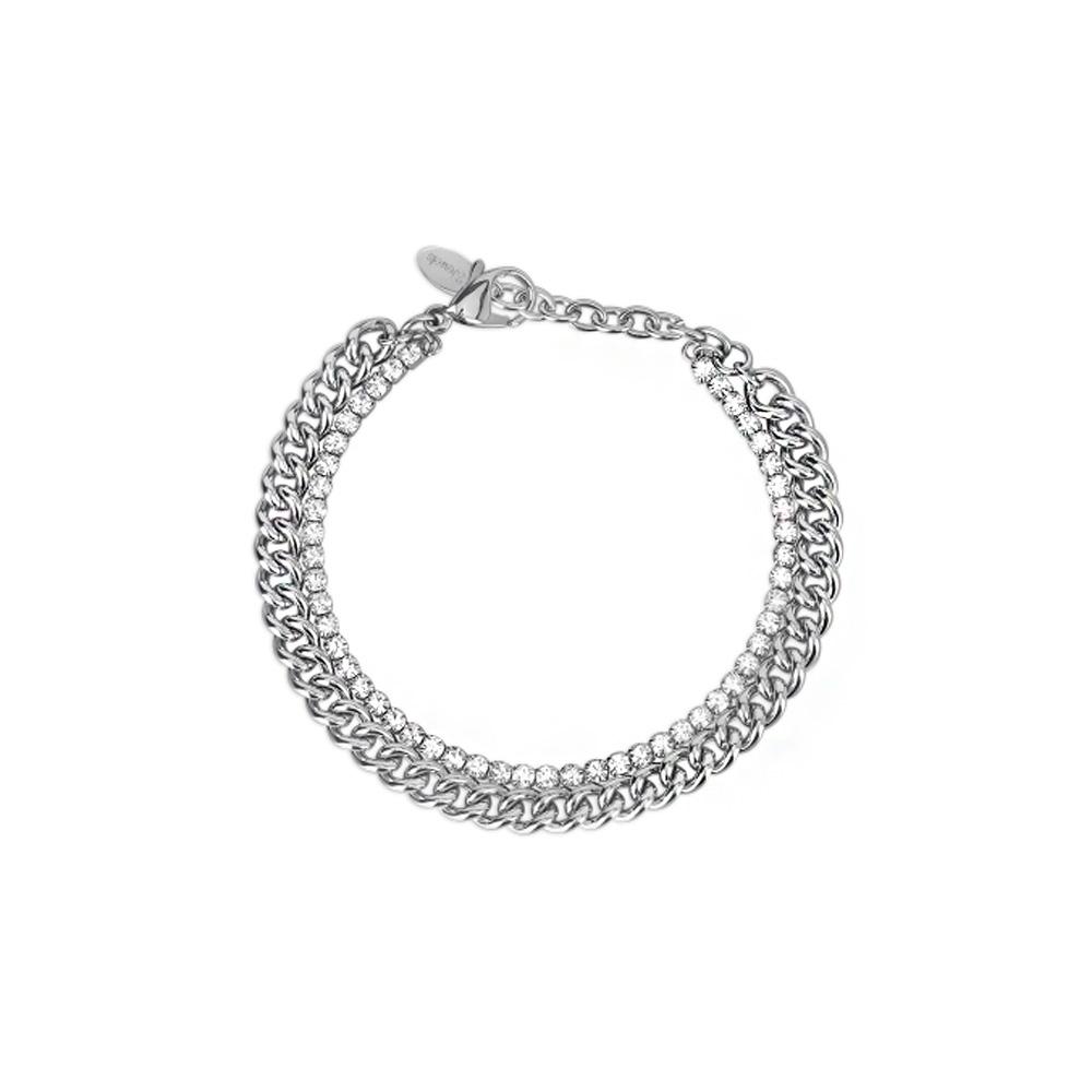 Bracciale Donna 2Jewels in Acciaio e cristalli bianchi collezione Mix e Match 232118