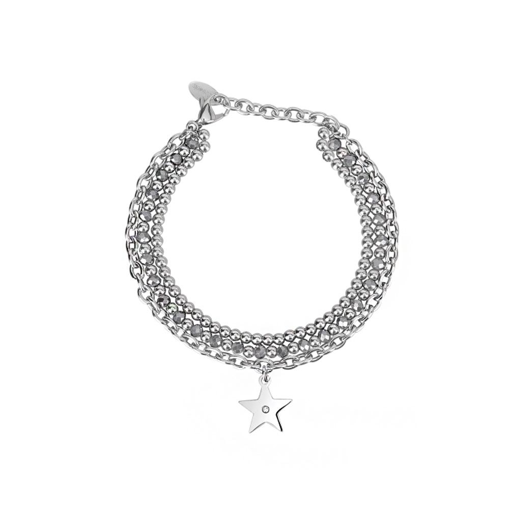 Bracciale Donna 2Jewels in Acciaio e cristalli Stella collezione Starlook 232121