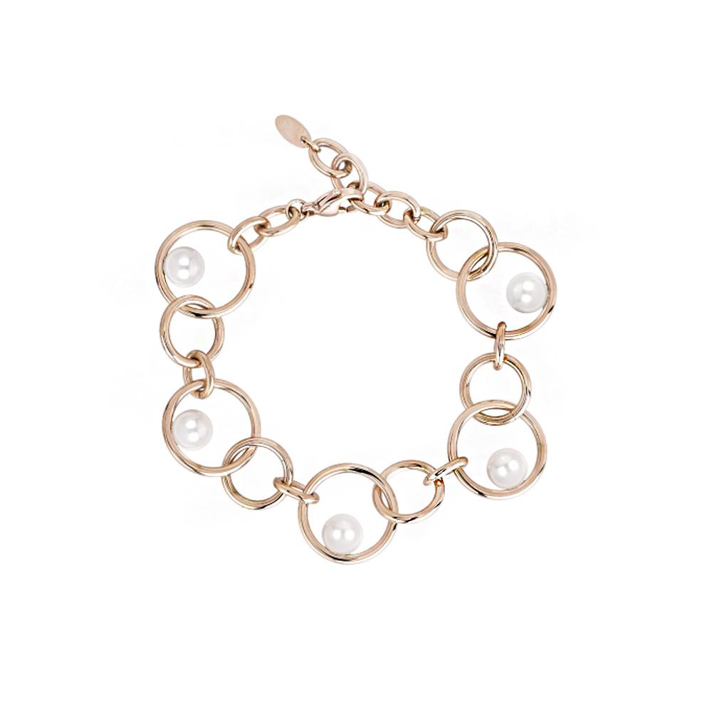 Bracciale Donna 2Jewels in Acciaio PVD rosa e perle collezione Pearl Planet 232114
