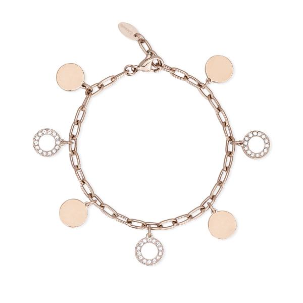Bracciale Donna 2Jewels in Acciaio rosa con charms 232176
