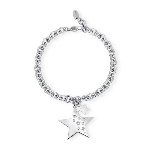 Bracciale donna 2Jewels Like a Star in acciaio e cristalli Stella 231941