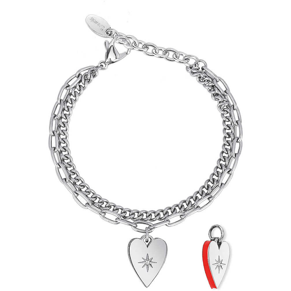 Bracciale Donna 2Jewels Regina di Cuori con ciondolo cuore 232140