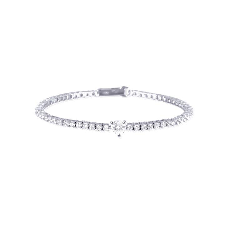 Bracciale donna Mabina in argento con zirconi 533183