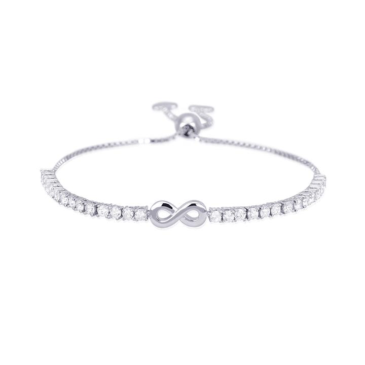 Bracciale donna Mabina in argento con zirconi infinito 533203