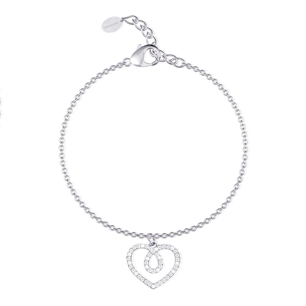 Bracciale donna Mabina in argento Cuore con zirconi 533234