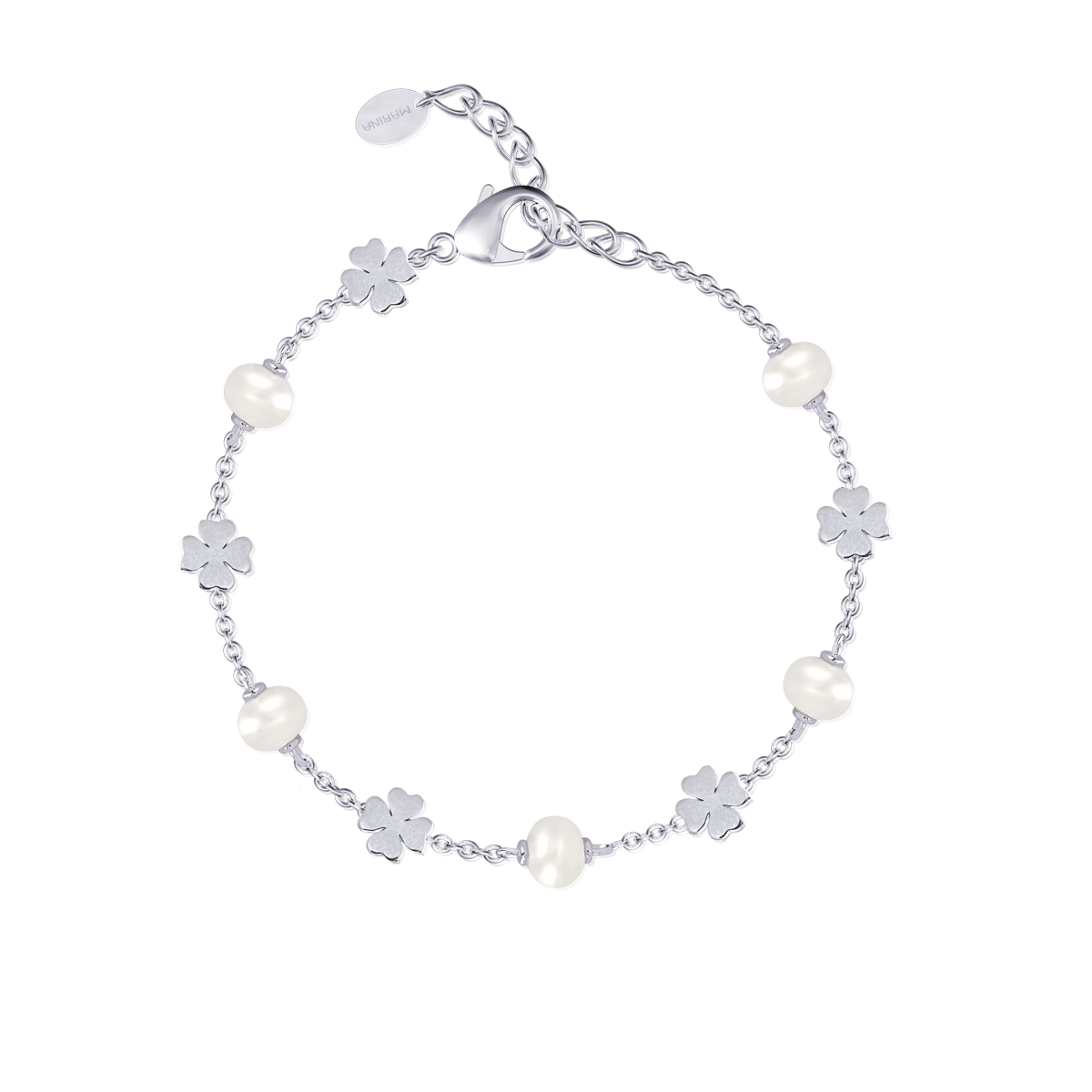 Bracciale Donna Mabina in Argento Quadrifoglio con perle
