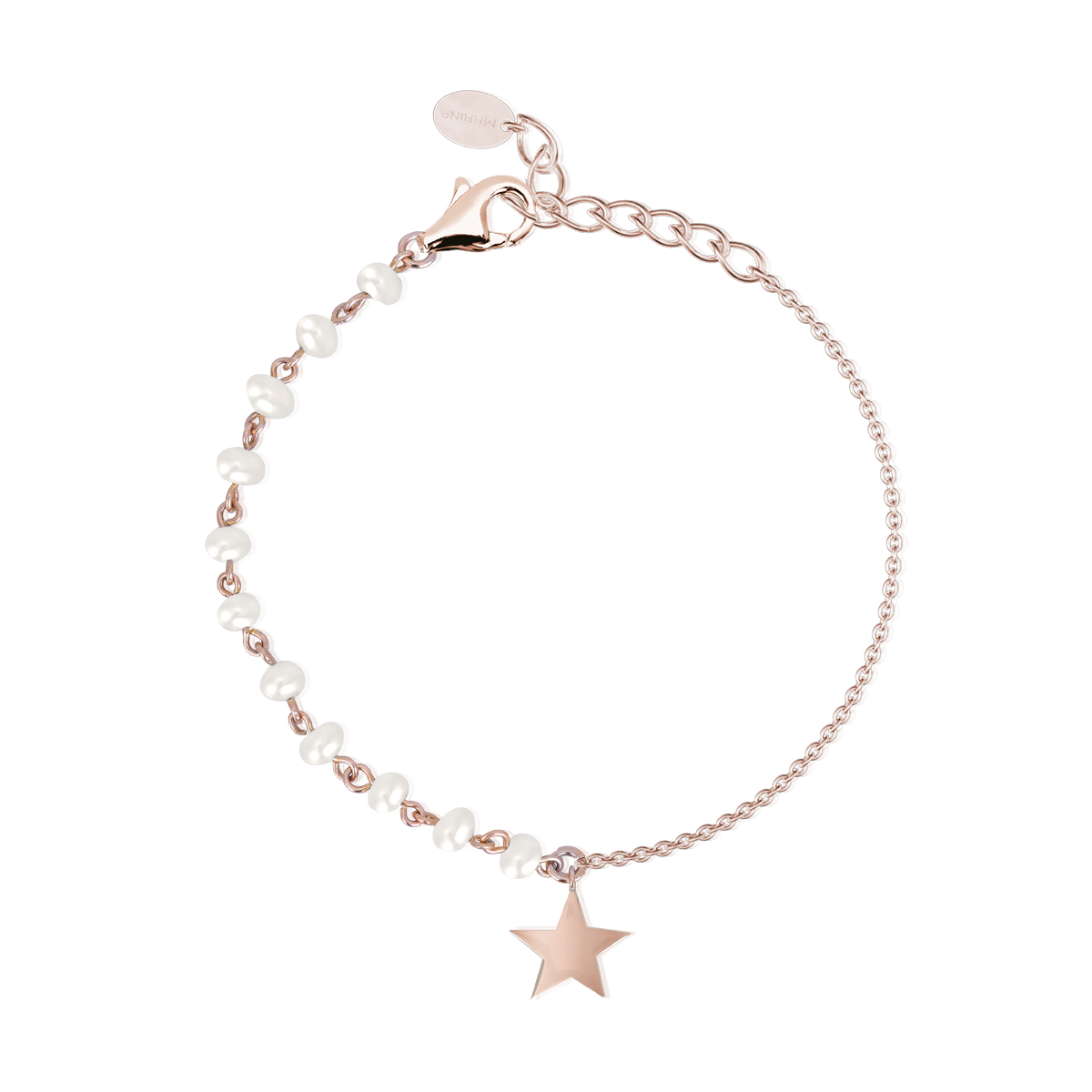 Bracciale Donna Mabina in Argento rosato e perle con stella 533294