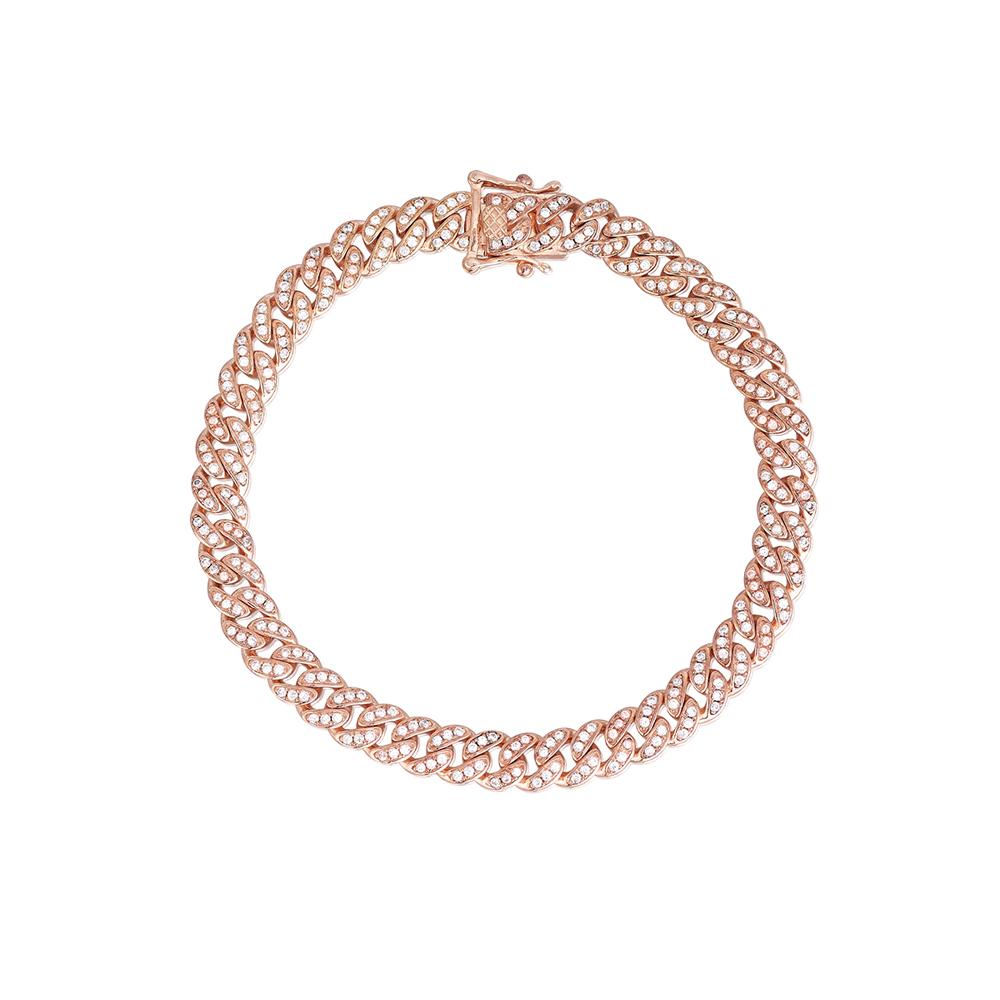 Bracciale Donna Mabina in Argento rosato e zirconi bianchi 533333-S