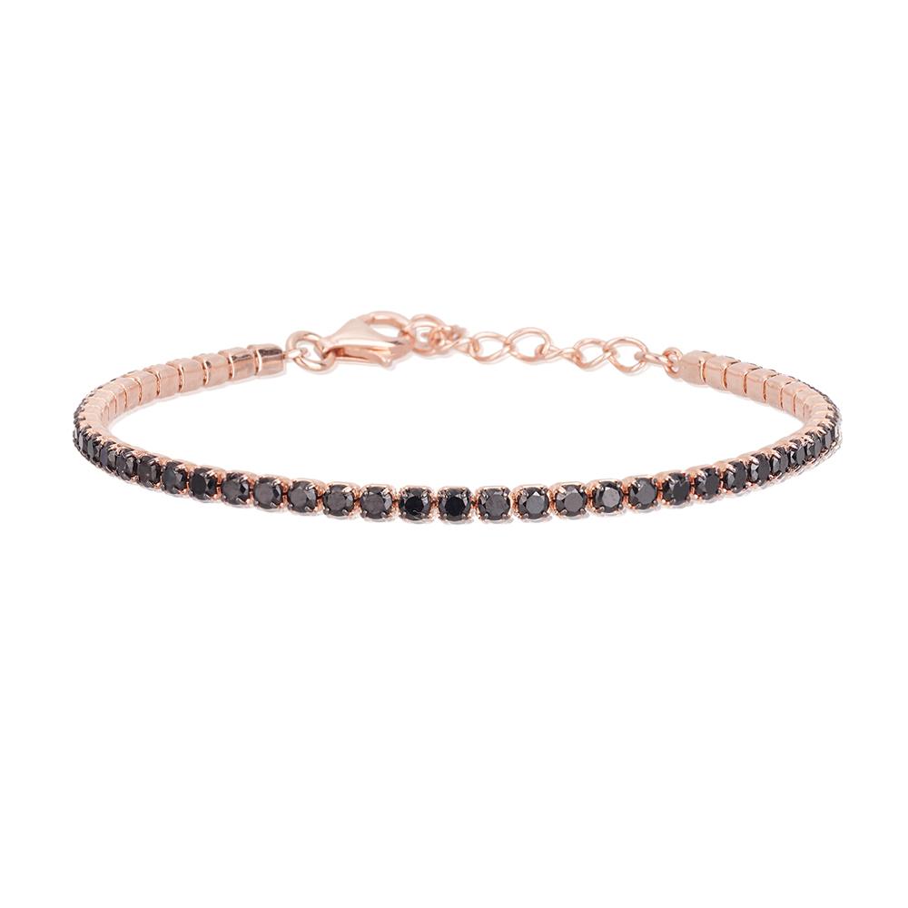 Bracciale Donna Mabina in Argento rosato e zirconi neri 533329