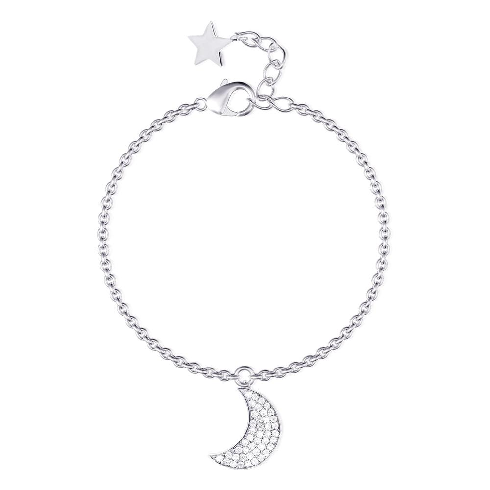 Bracciale donna Mabina in argento Luna e Stella 533228