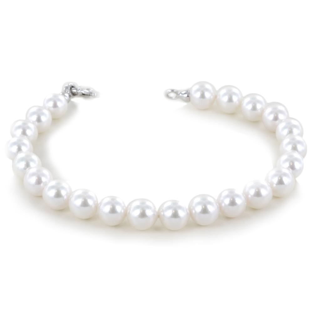 Bracciale filo di perle con Perle AKOYA 8.00 - 8.50 mm