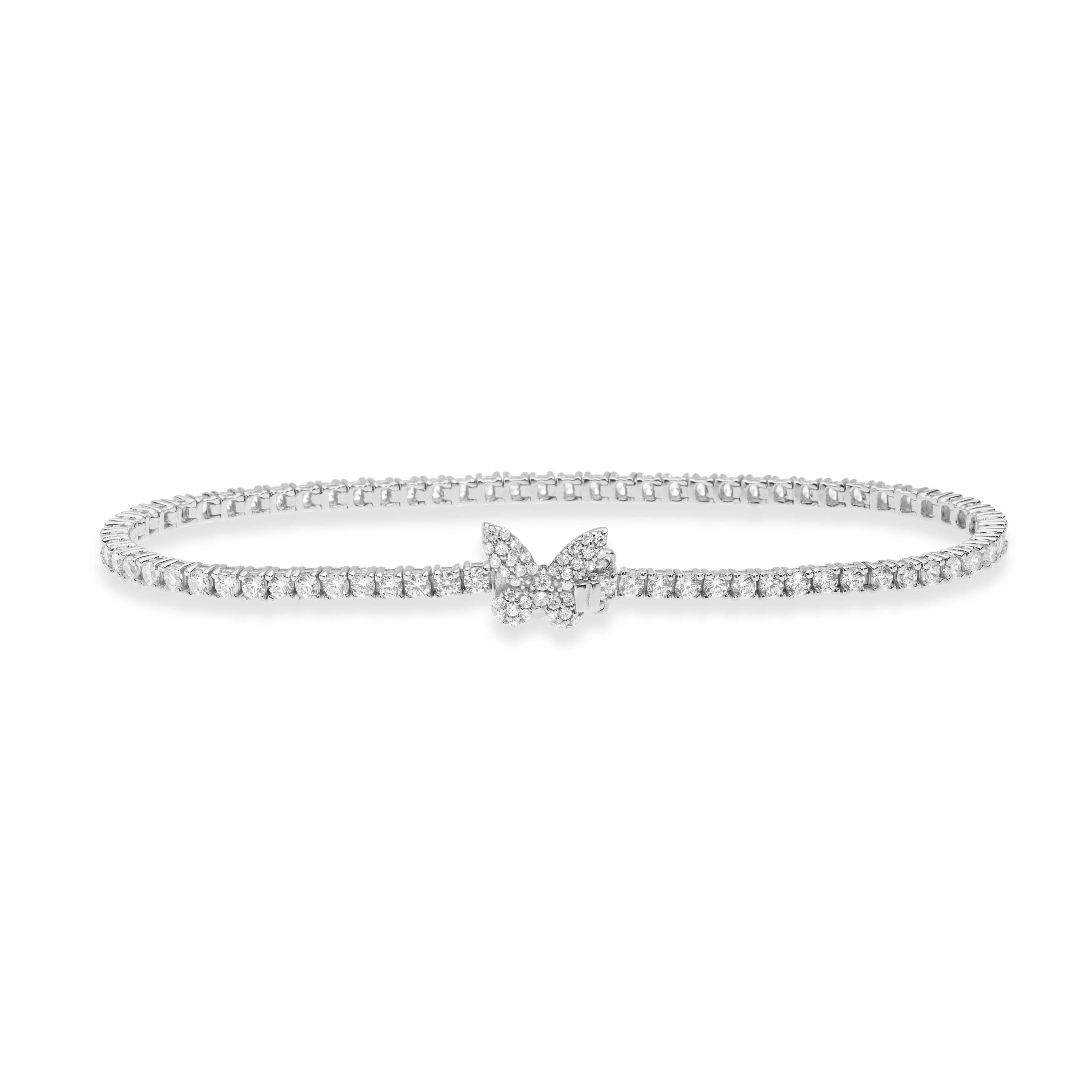 Bracciale in argento Comete Gioielli con zirconi BRA 165