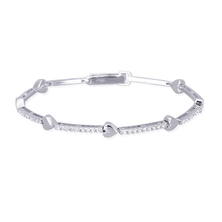 Bracciale donna Mabina in argento con Cuori e zirconi 533209