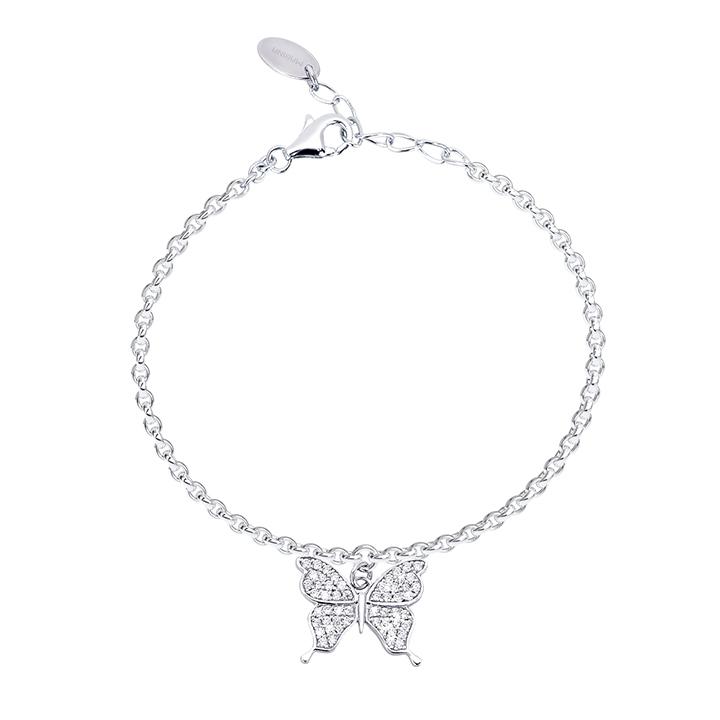 Bracciale donna Mabina in argento con Farfalla e zirconi 533214
