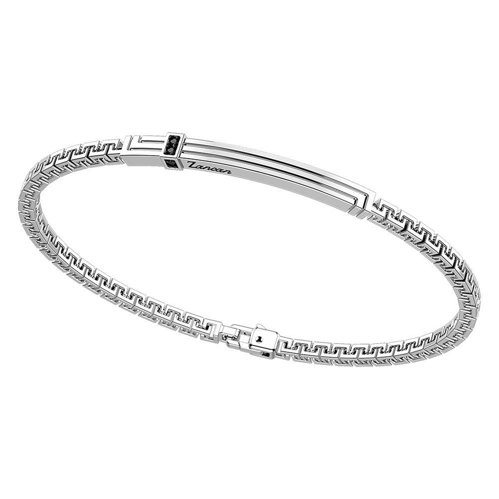 Bracciale in argento da uomo con spinelli neri Zancan EXB 817