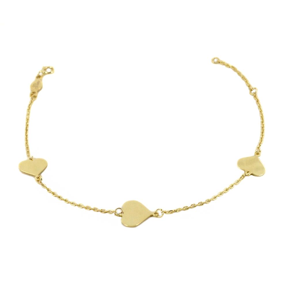 Bracciale in oro 9 kt con charms Cuore