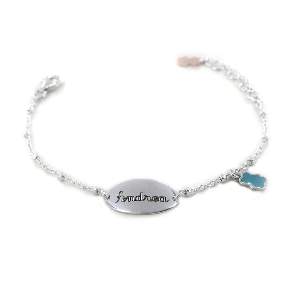 Bracciale Nanan da bambino personalizzabile in argento NAN0059