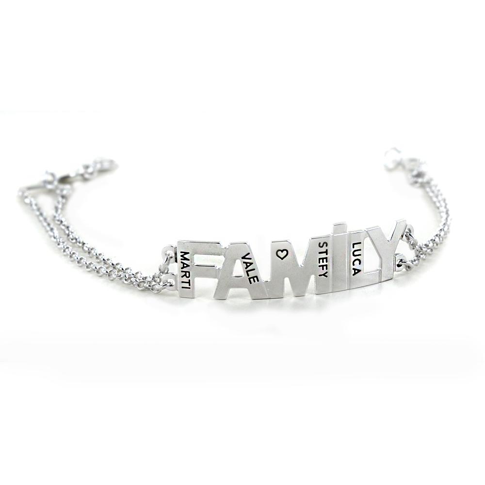 Bracciale personalizzabile con scritta FAMILY