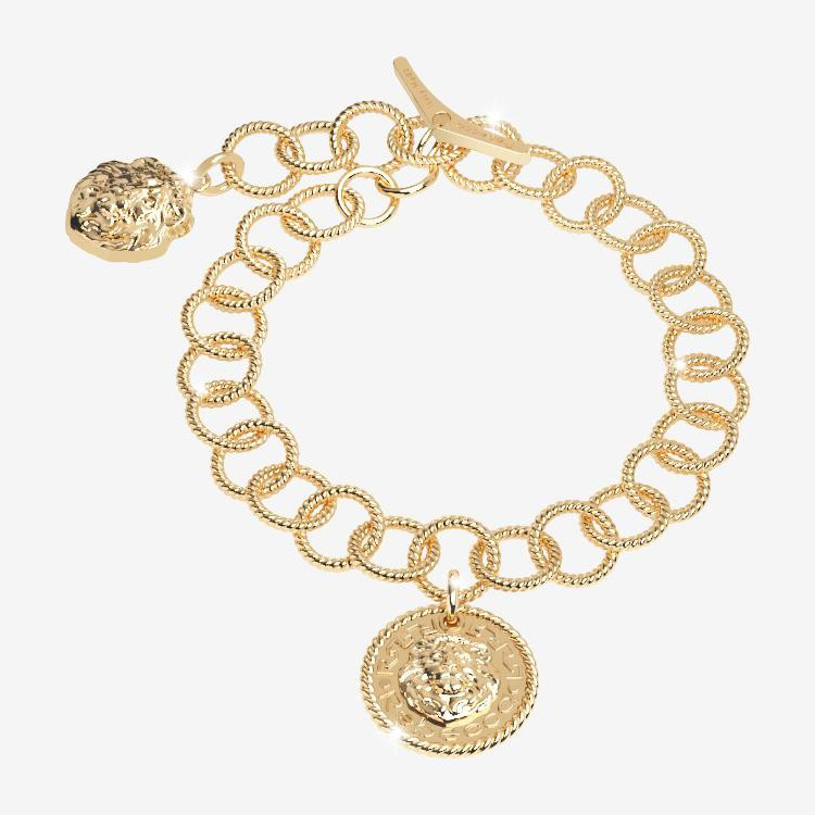 Bracciale Rebecca Donna The Lion Queen in Argento Multicharm Gold