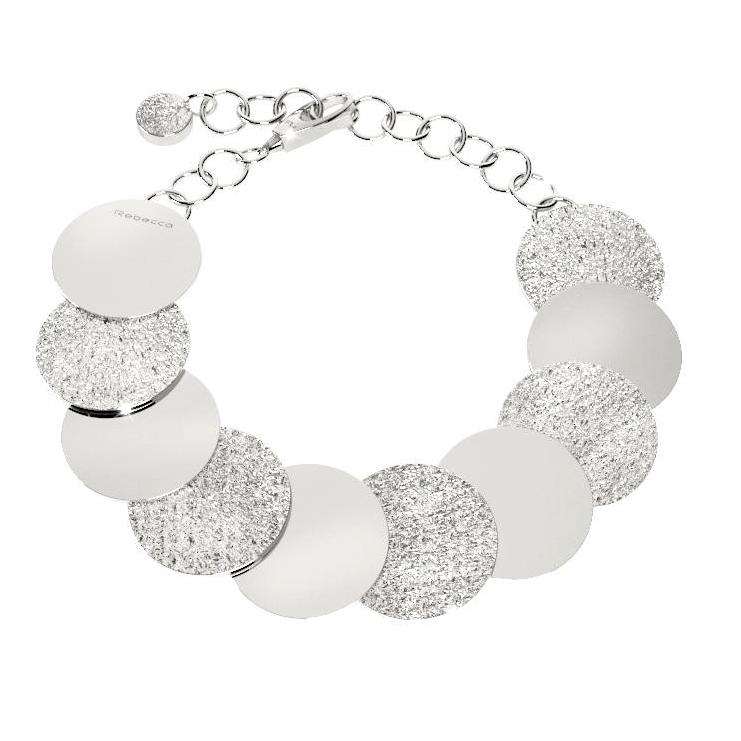 Bracciale Rebecca con cerchi silver collezione R-zero