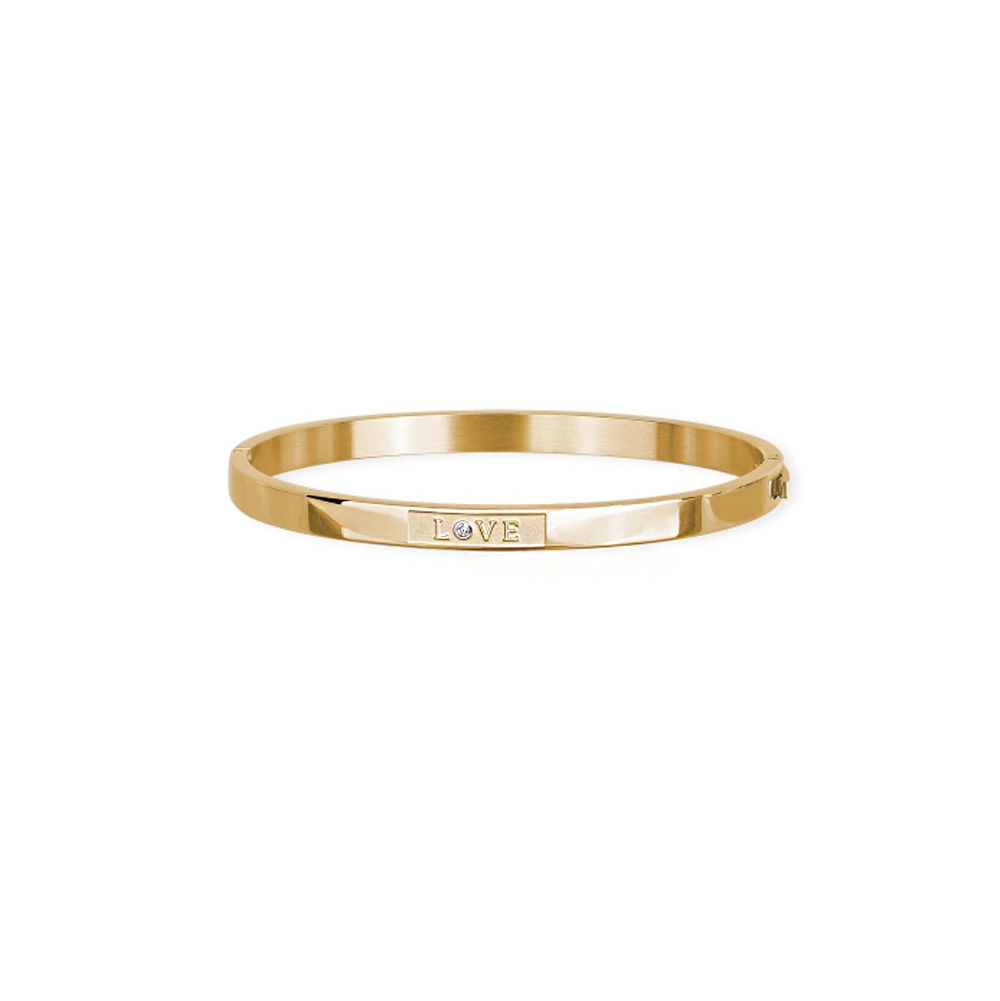 Bracciale rigido Donna 2Jewels in Acciaio pvd gold LOVE 232126
