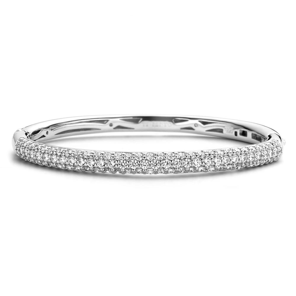 Bracciale rigido Ti Sento Milano Donna con cristalli in argento 2275ZI