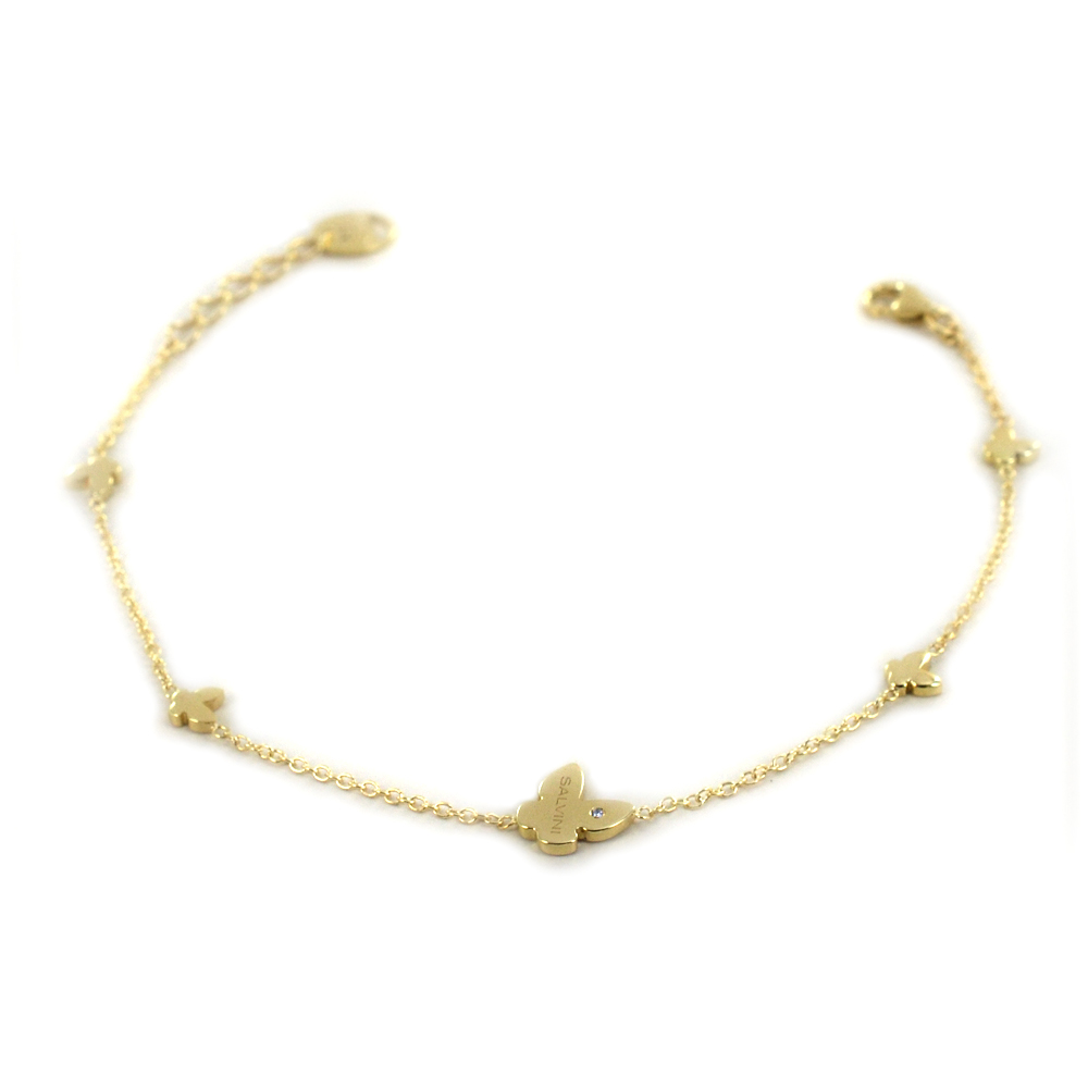 Bracciale Salvini MINIMAL farfalle oro giallo 20087147