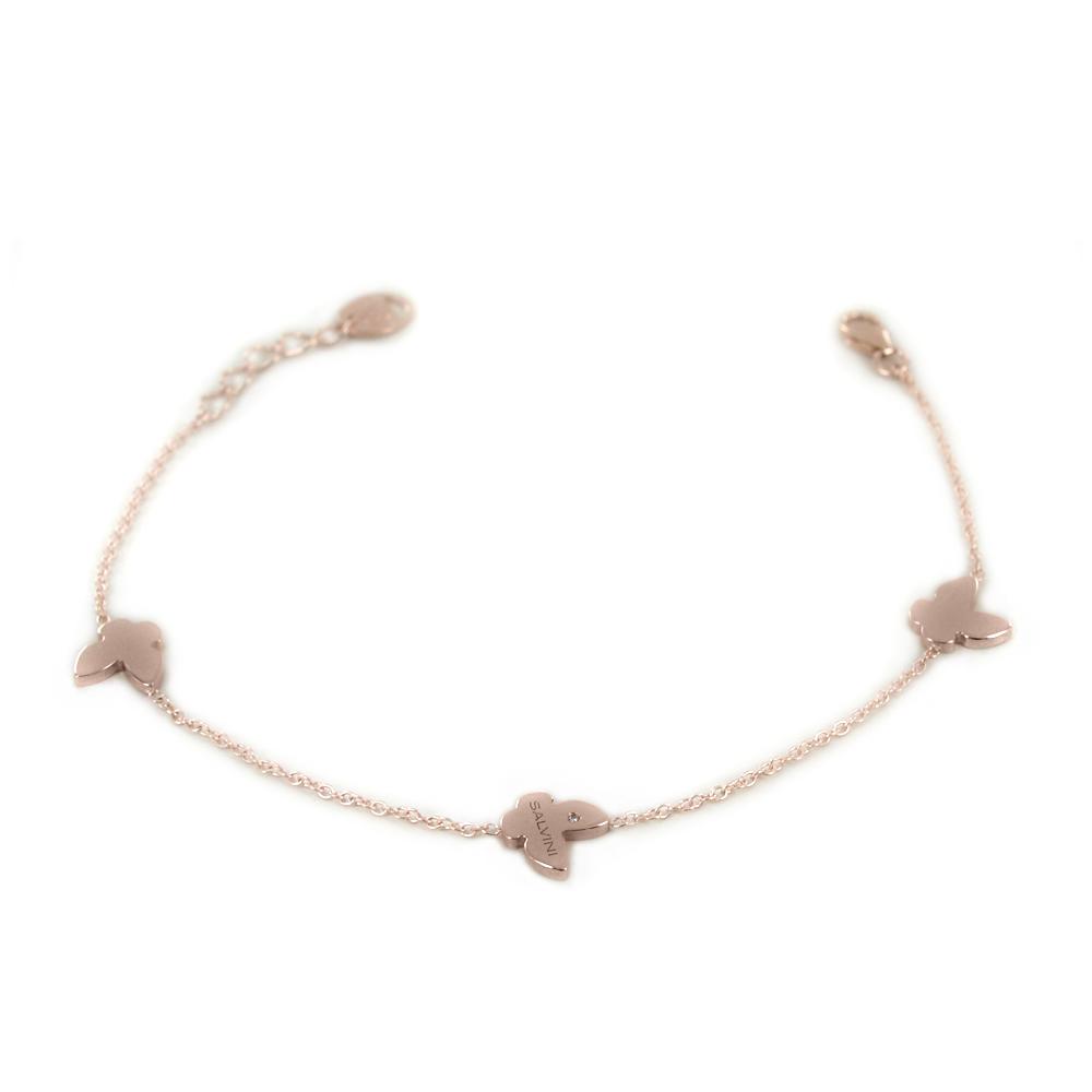 Bracciale Salvini MINIMAL farfalle oro rosa 20087180
