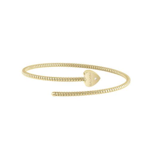 Bracciale Semirigido con cuore Salvini in oro giallo e diamante MINIMAL POP 20084339