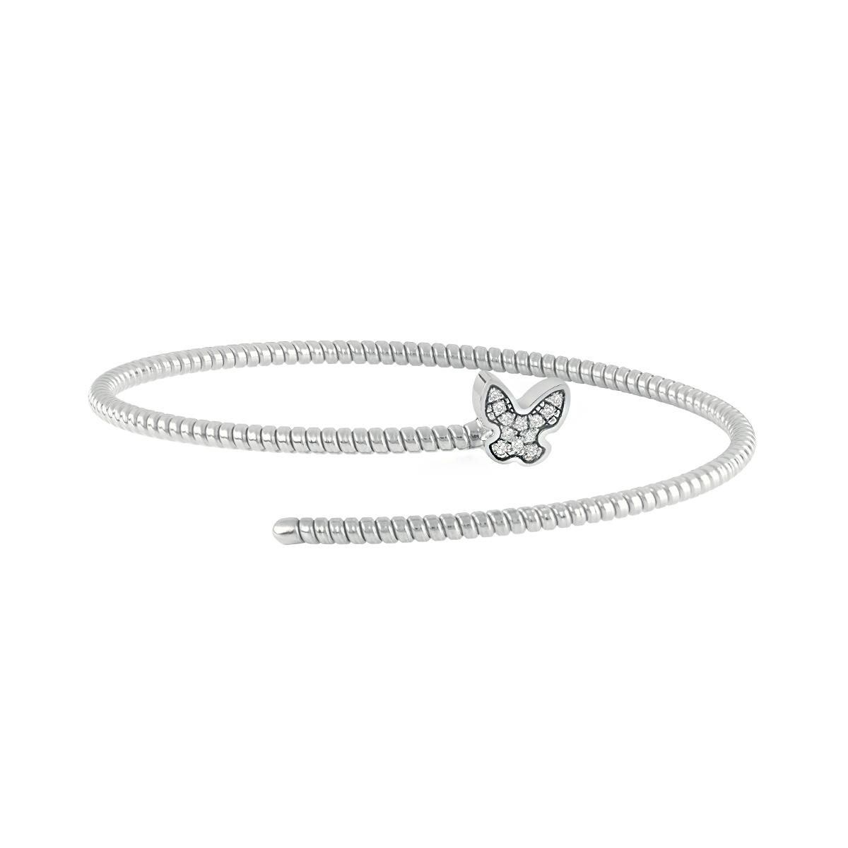 Bracciale Semirigido con farfalla Salvini in oro bianco e diamanti MINIMAL POP 20084343