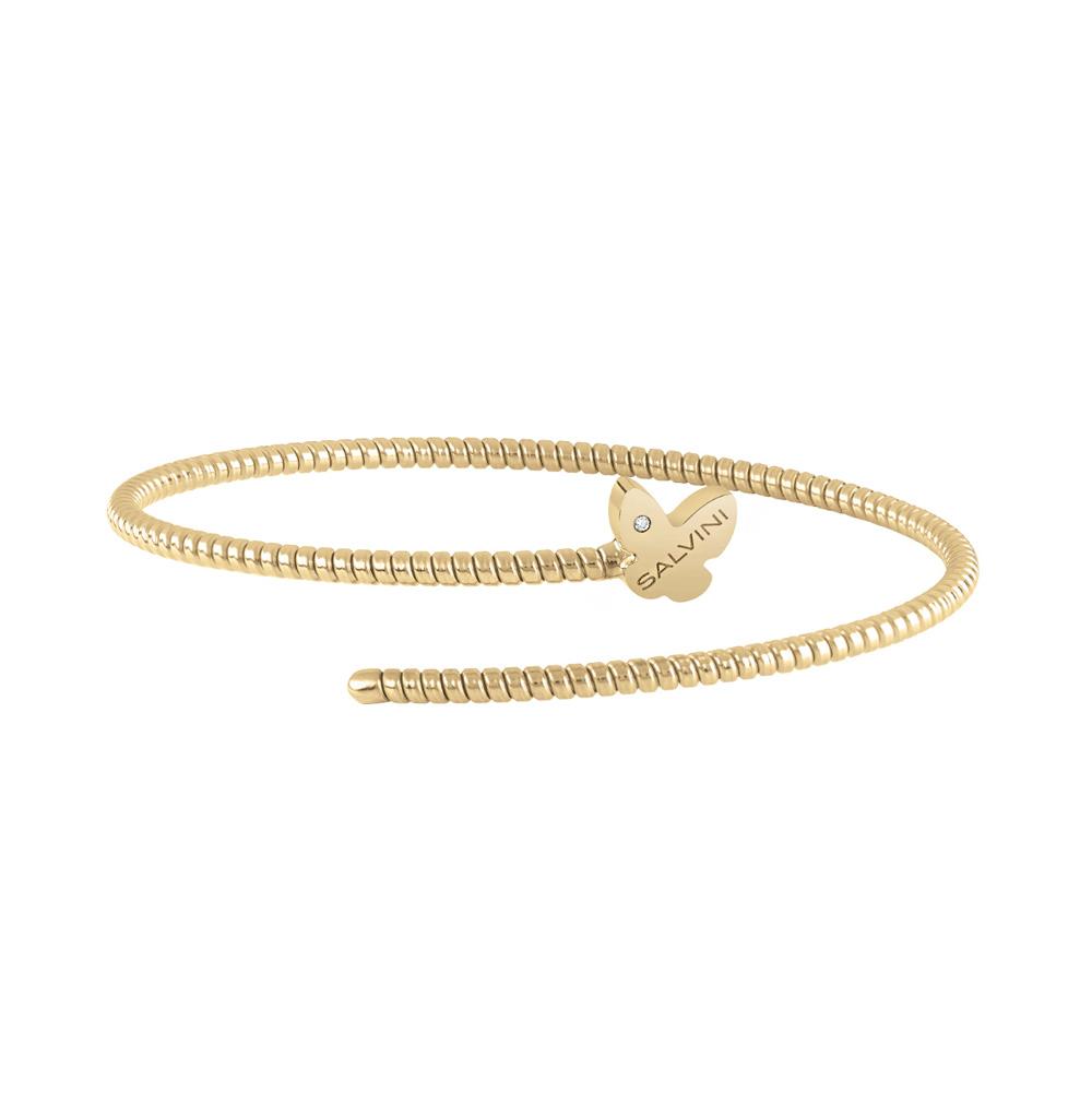 Bracciale Semirigido con farfalla Salvini in oro giallo e diamante MINIMAL POP 20084342