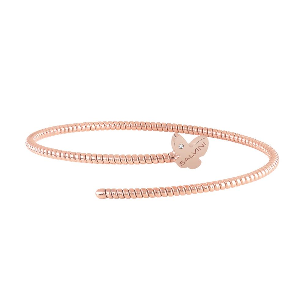Bracciale Semirigido con farfalla Salvini in oro rosa e diamante MINIMAL POP 20084341