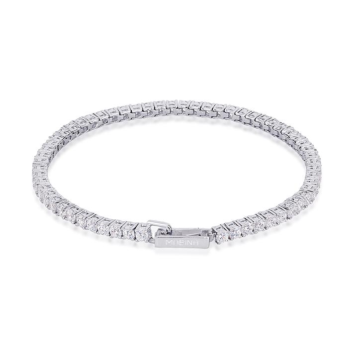 Bracciale tennis donna Mabina in argento con zirconi 533220