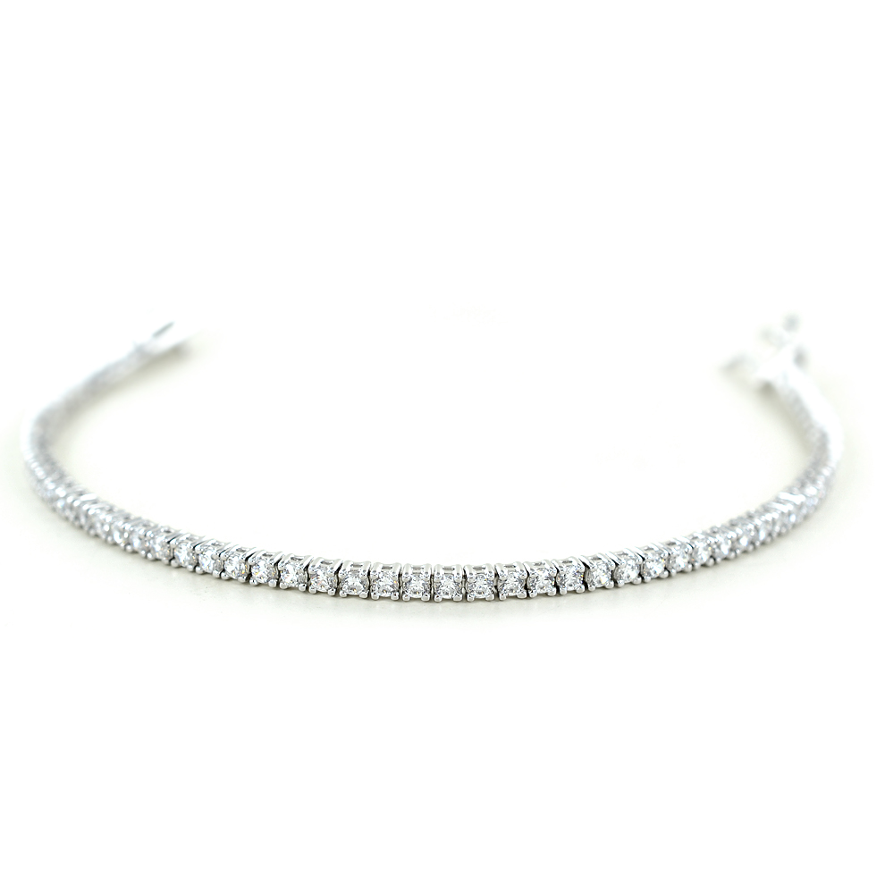 Bracciale tennis in argento e zirconi bianchi 16 cm - 3.00 mm