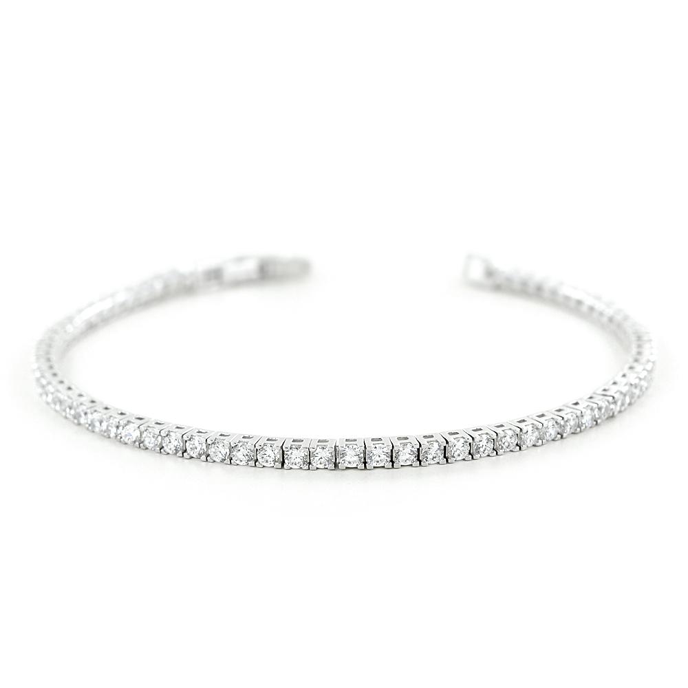 Bracciale tennis in argento e zirconi bianchi 17 cm - 2.50 mm