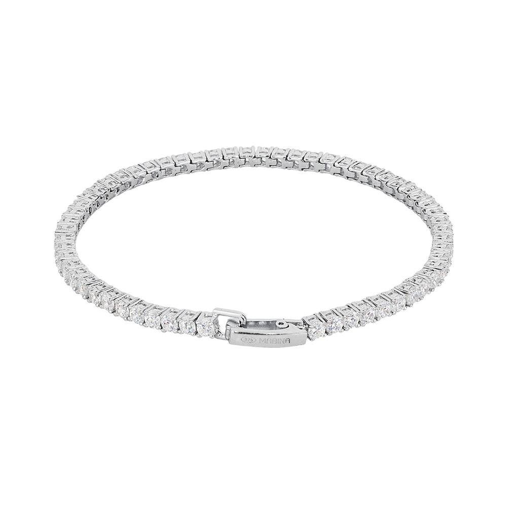 Bracciale tennis Mabina in argento con zirconi 533019