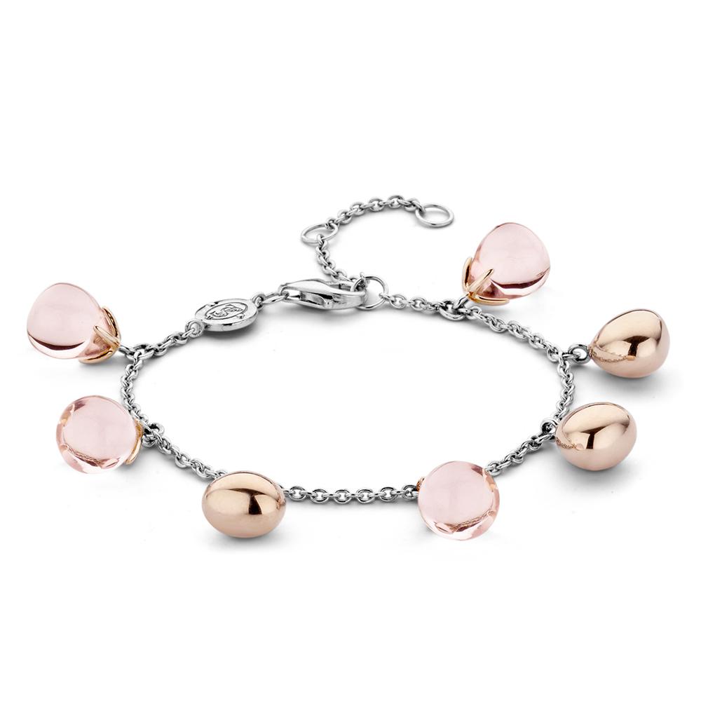 Bracciale Ti Sento Milano Donna cristalli rosa in argento 2884NU