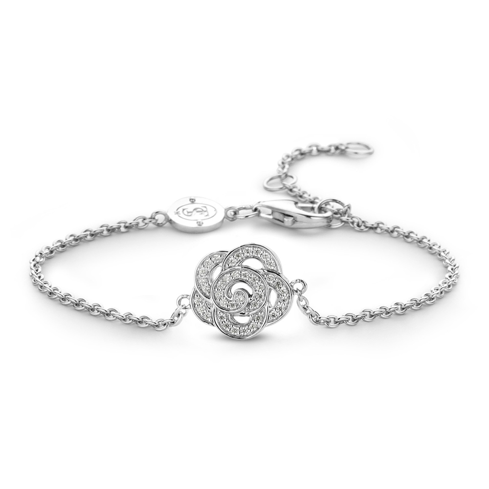 Bracciale Ti Sento Milano Donna fiore in argento 2872ZI