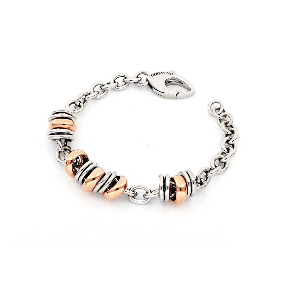 Bracciale Unoaerre argento dorato rosa e silver