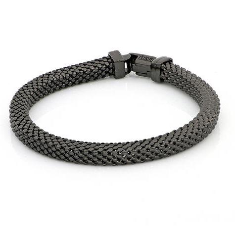 Bracciale Unoaerre in bronzo nero maglia milanese morbida