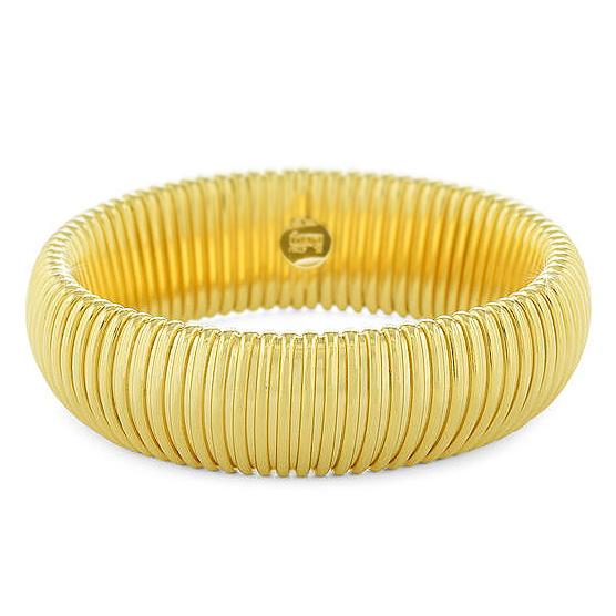 Bracciale Unoaerre rigido maglia tubogas giallo oro