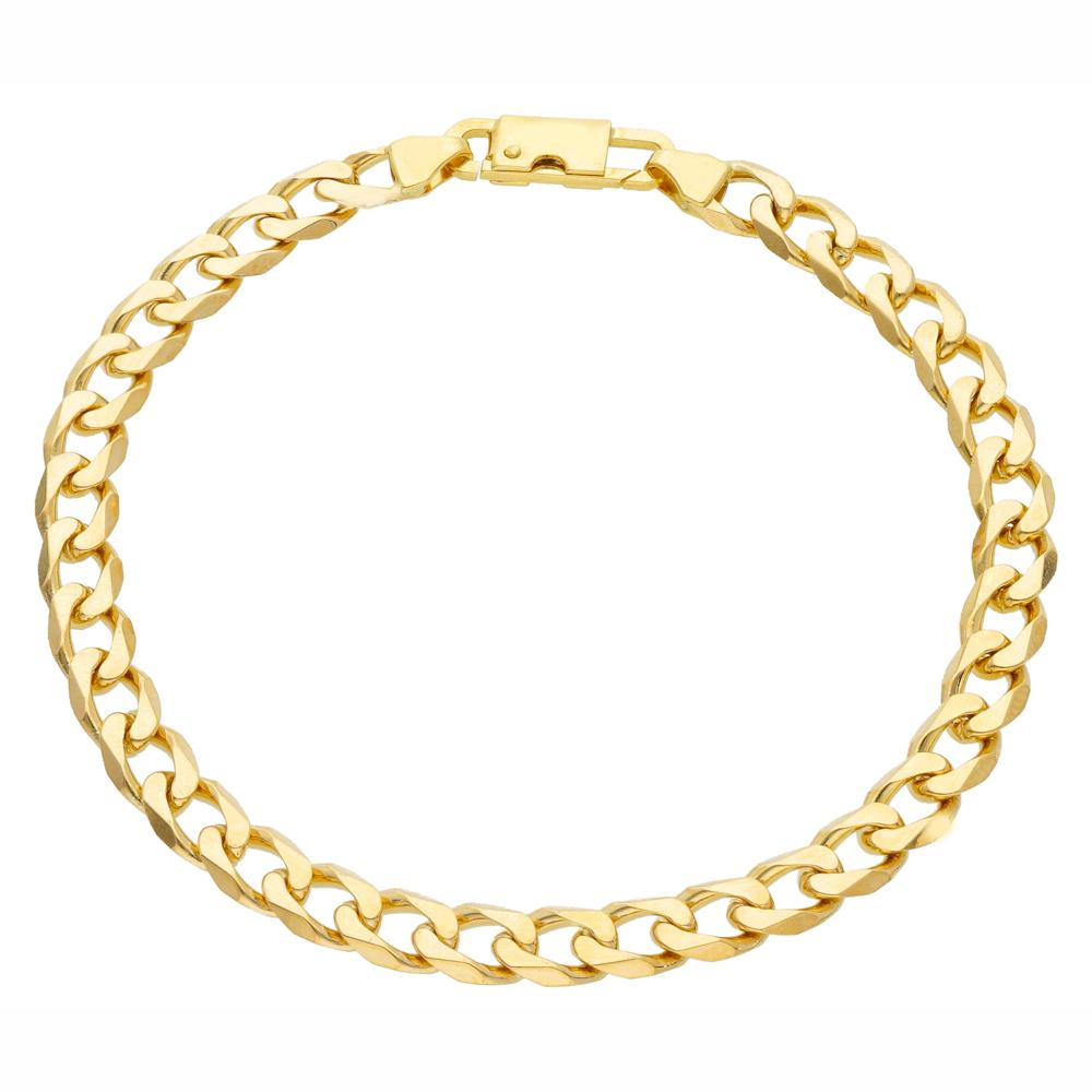 Bracciale Uomo in oro maglia piena 21.50 cm