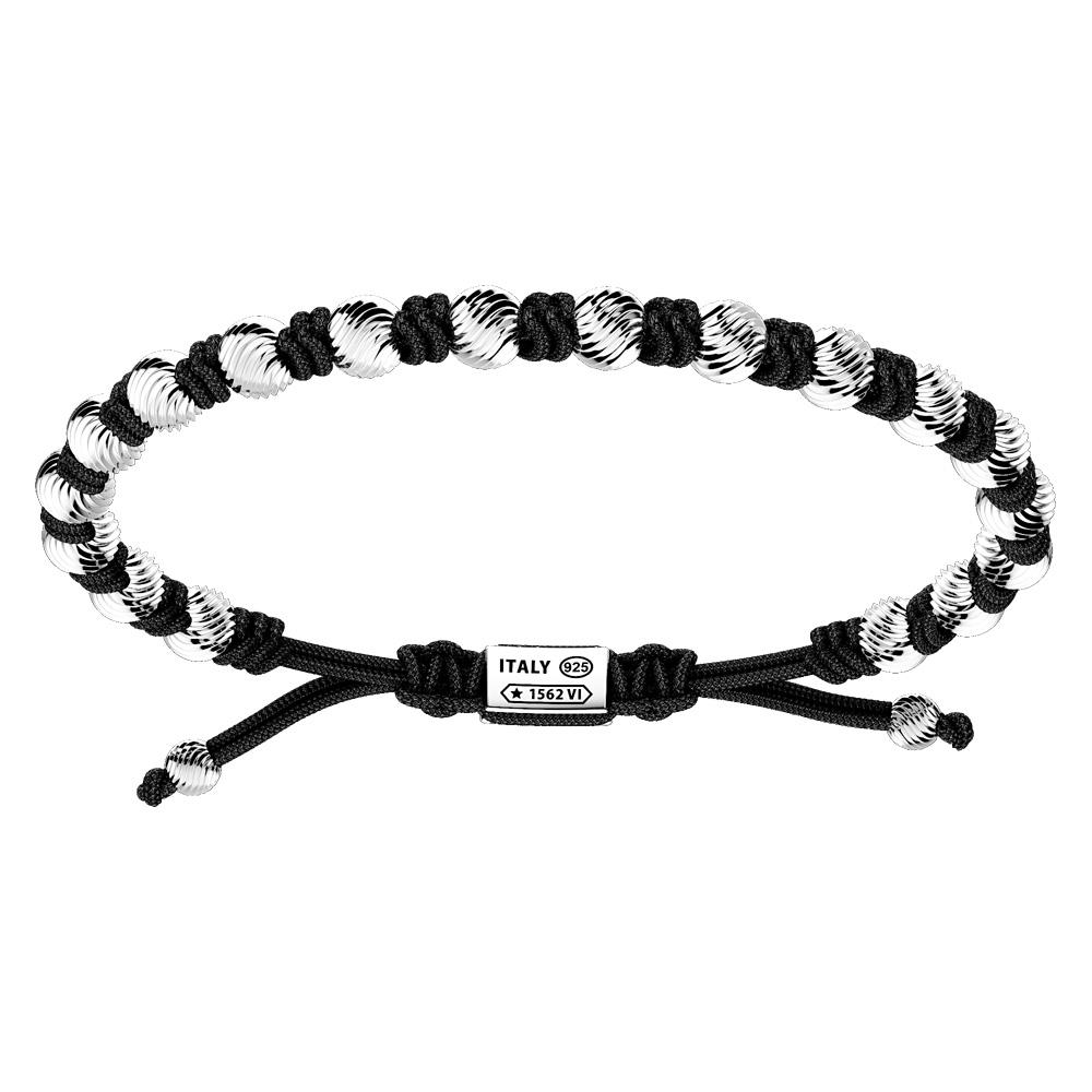 Bracciale Zancan Uomo in argento e corda nautica Infinity EXB833-NE