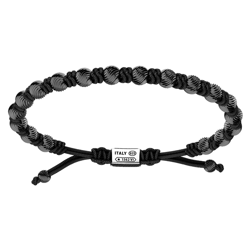 Bracciale Zancan Uomo in argento e corda nautica Infinity EXB835-NE